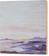 Seascape Nr 1 Wood Print by Carola Ann-Margret Forsberg