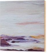 Seascape Nr 2 Wood Print by Carola Ann-Margret Forsberg