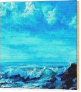 Seascape Scene Near Northbrooke-on-sea L A Wood Print