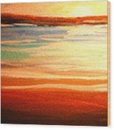 Seascape Sunset Wood Print