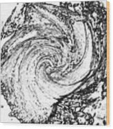 Seashell And Ocean Wood Print
