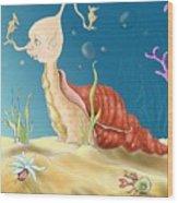 Seashell Guy Wood Print