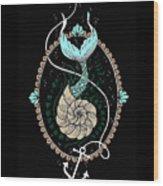 Seashell Mermaid Wood Print