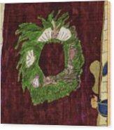 Seashell Wreathe Wood Print