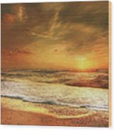 Seashore Sunset Wood Print