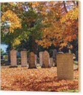 Seaside Cemetery Wood Print