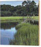 Seaside Creek Fort Lamar Battle Of Secessionville Wood Print