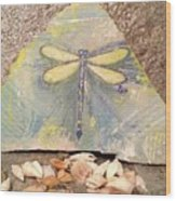 Seaside Dragonfly Wood Print