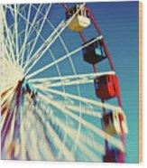 Seaside Ferris Wheel Wood Print