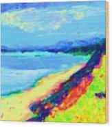 Seaside Green Wood Print
