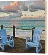 Seaside In Antigua Wood Print