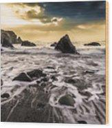 Seaside L/r Wood Print