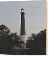 Seaside Lamp Wood Print