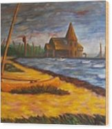 Seaside Park Nj Yacht Club Wood Print