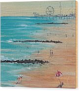 Seaside Wood Print