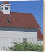 Seaside Schoolhouse Wood Print