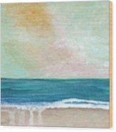 Seaside Sunset- Expressionist Landscape Wood Print