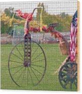 Seasonal Antique Tricycle 1 Wood Print