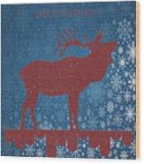 Seasonal Greetings Artwork Wood Print