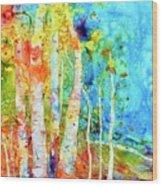 Seasonal Stream Of Consciousness Wood Print