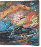 Seastorm Wood Print