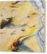 Seaswept Wood Print