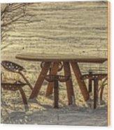 Seat Of A Farmer Wood Print
