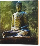 Seated Buddha Wood Print