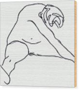 Seated Figure Wood Print