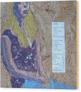 Seated Girl Wood Print
