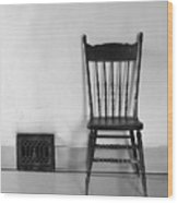 Seated Wood Print