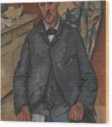 Seated Man  Wood Print