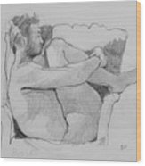 Seated Nude 1 Wood Print