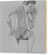 Seated Nude 3 Wood Print
