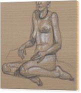 Seated Nude 7 Wood Print