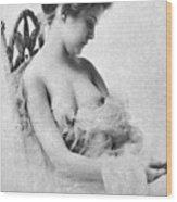 Seated Nude, C1865 Wood Print