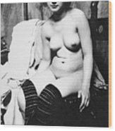 Seated Nude, C1910 Wood Print