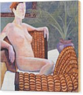 Seated Nude Wood Print by Don Perino