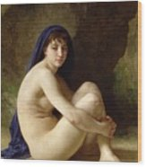 Seated Nude Wood Print by William Adolphe Bouguereau