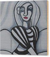 Seated Woman 2 Wood Print