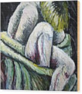 Seated Woman Abstract Wood Print