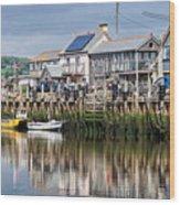 Seaton Harbour - Devon Wood Print