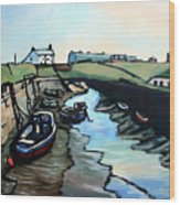 Seaton Sluice Harbour Wood Print