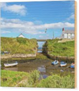 Seaton Sluice Harbour Wood Print
