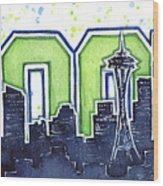 Seattle 12th Man Legion Of Boom Painting Wood Print