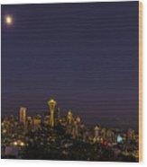 Seattle After Dak Wood Print