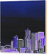 Seattle Blue 2 Wood Print