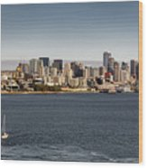 Seattle By Sea Wood Print