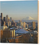 Seattle Cityscape Wood Print