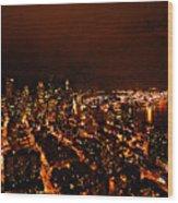 Seattle  Wood Print